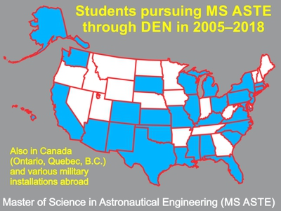 USC students pursuing MS in astronautical engineering